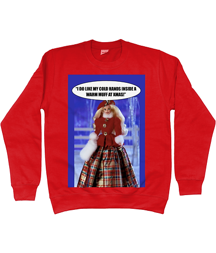 Hilarious Lesbian Xmas Jumper! I do like my cold hands inside a warm muff!
