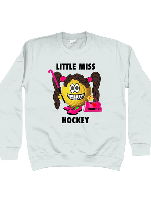 Little Miss Hockey, Funny, Kids Field Hockey Sweatshirt