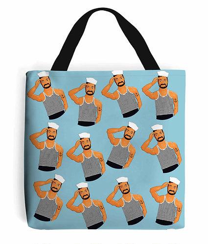 Hello Sailors! Nautical Tote Bag