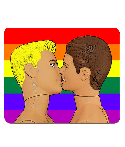 4 x Gay Kiss Under a Rainbow Flag, LGBT  Place Mats
