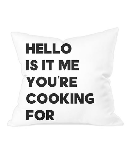 Hello Is It Me You're Looking For Throw Cushion Cover