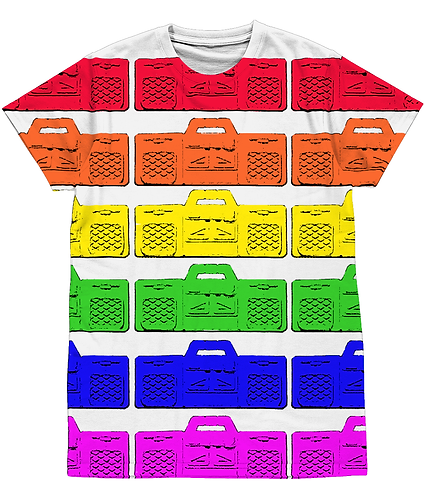 Rainbow Stereo's! Cool, LGBT, Pop Art Sublimation Unisex T-Shirt