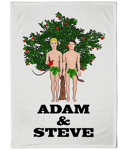 Adam & Steve! Funny, Gay Tea Towel!