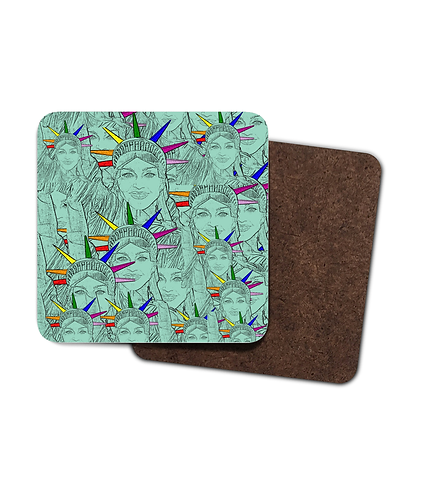 4 x Gay Drinks Coasters! Madonna Morphed In To The Statue of Liberty!