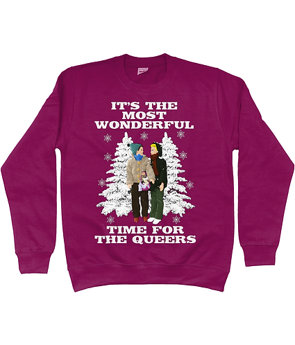 It's The Most Wonderful Time For The Queers! Funny, Gay, Xmas Jumper!