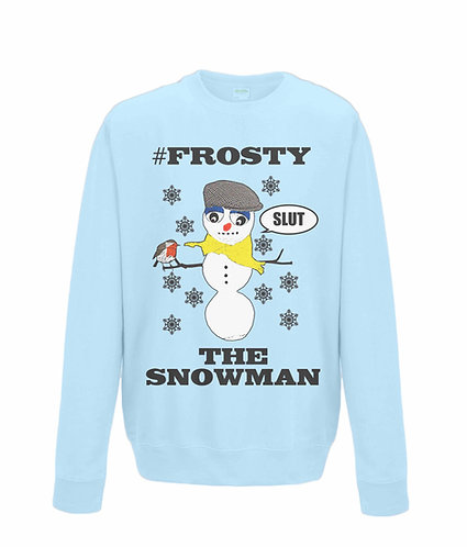 #Frosty The Snowman! Rude, Funny Christmas Jumper (black font)