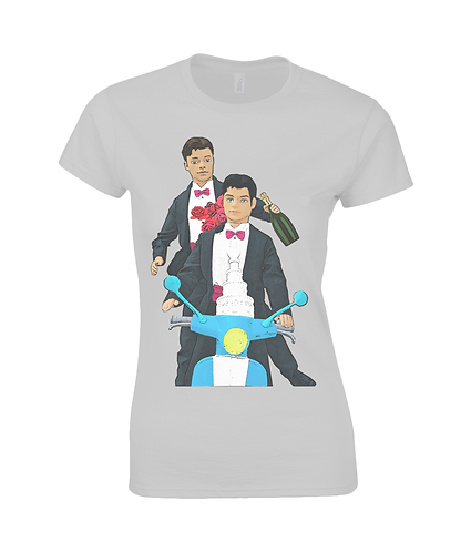 Just Married, Gay Interest Ladies T-Shirt