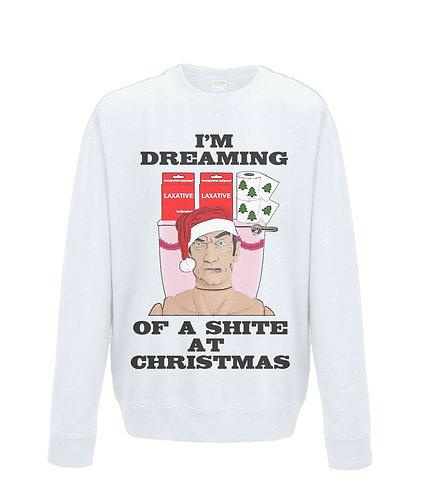 I'm Dreaming of a Shite at Christmas! Rude, Funny Xmas Jumper (black font)