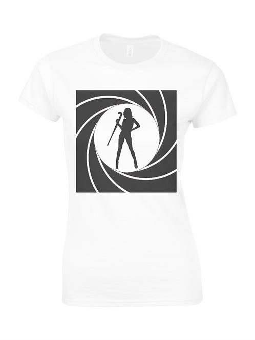 Bond Hockey Girl Ladies T-Shirt
