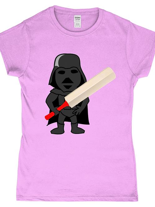 Darth Cricket! Funny, Ladies Cricket T-Shirt