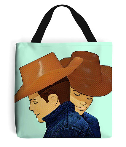 Brokeback Mountain Pop Art, LGBT Tote Bag
