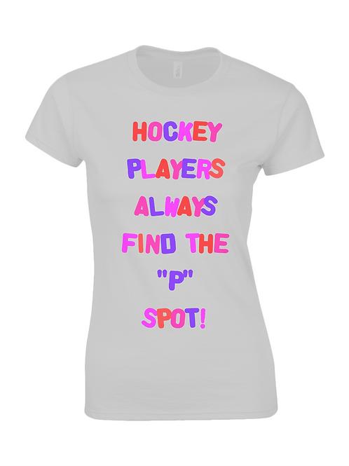 """""""P"""" Spot Ladies Field Hockey T-Shirt"""