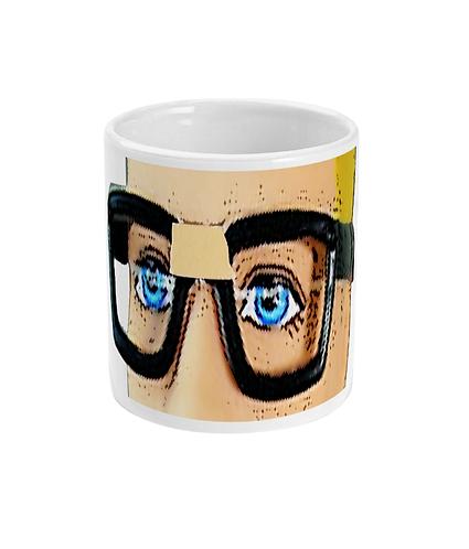 Funny Nerd Mug! Goggles & A Plaster!