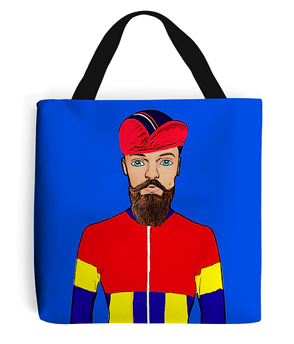 Fixie Cyclist, Funny Tote Bag