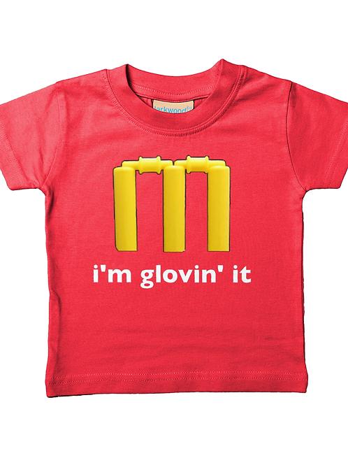 I'm Glovin It! Cool, Funny, Babies Cricket T-Shirt