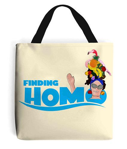 Finding Homo! Funny, Gay, Tote Bag