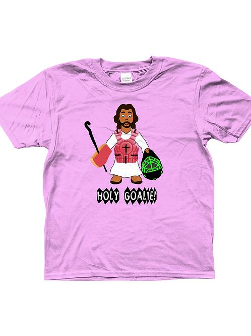 Holy Goalie! Funny, Kids Field Hockey T-Shirt