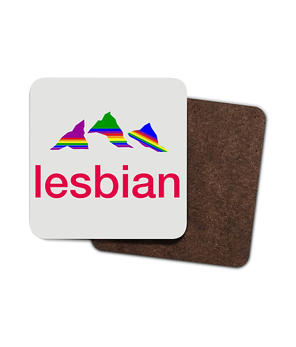 4 x Lesbian, Funny LGBT Drinks Coasters!