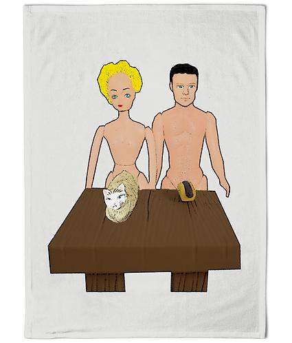 Hot Dog & A Pussy Rude Tea Towel!