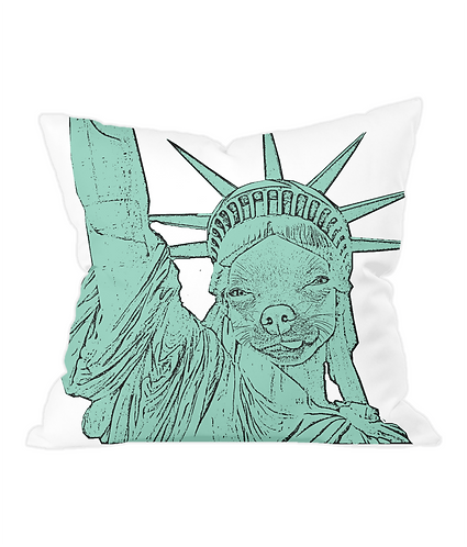 The Statue of Chihuahua Throw Cushion Cover