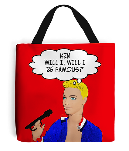 Ken Will I Be Famous, Funny Tote Bag