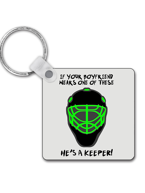 Your Boyfriends A Keeper! Funny Field Hockey Keyring