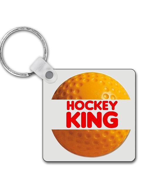 Hockey King! Funny Field Hockey Keyring