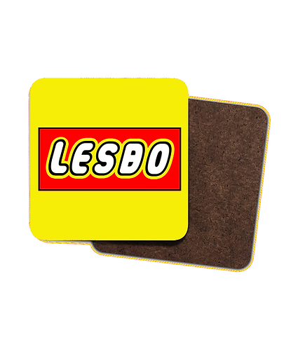 4 x Funny, Rude, Lesbian Drinks Coasters! Lesbo!