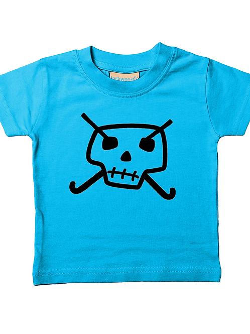 Skull & Hockey Sticks! Cool, Babies Field Hockey T-Shirt