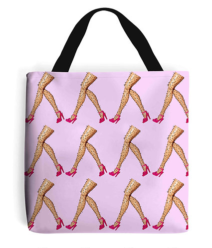 March of the Hairy Legs! Funny Tote Bag