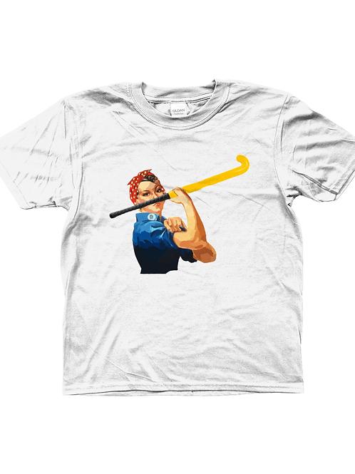 We Can Do It! Cool, Kids Field Hockey T-Shirt