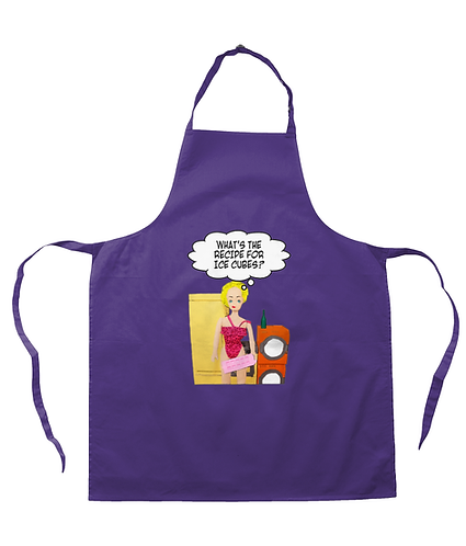 What's The Recipe for Ice Cubes! Funny Apron