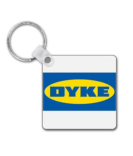 Dyke! Funny, Lesbian Keyring