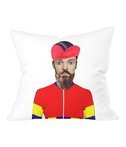 Cyclist Throw Cushion Cover