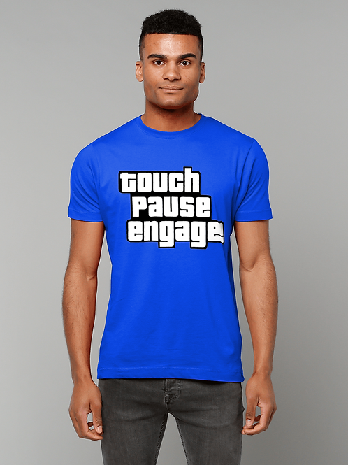 Touch Pause Engage! Funny Rugby T-Shirt