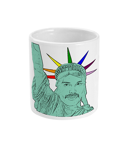 Freddie Mercurty as The Statue of Liberty! Funny, Gay, Mug