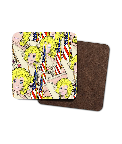 4 x Good Golly There's Loads of Dolly's Drinks Coasters!