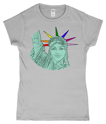 Madonna as The Statue of Liberty! LGBT Ladies T-Shirt