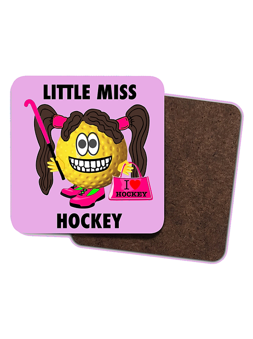 4 x Little Miss Hockey Drinks Coasters