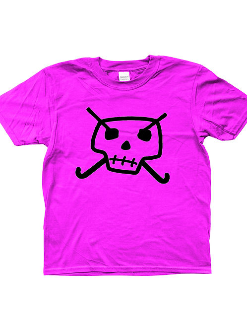 Skull & Hockey Sticks! Cool, Kids Field Hockey T-Shirt