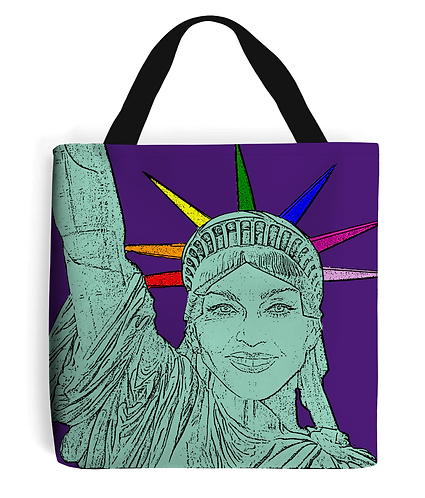 Madonna as the Statue of Liberty! Funny, Gay, Tote Bag