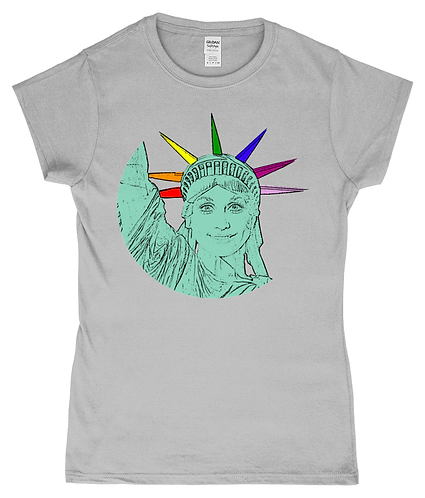 Dolly Parton as The Statue of Liberty! LGBT Ladies T-Shirt