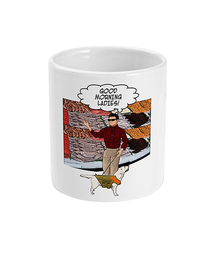Rude, Funny Hilarious Mug! A Blind Man At A Fish Stall!