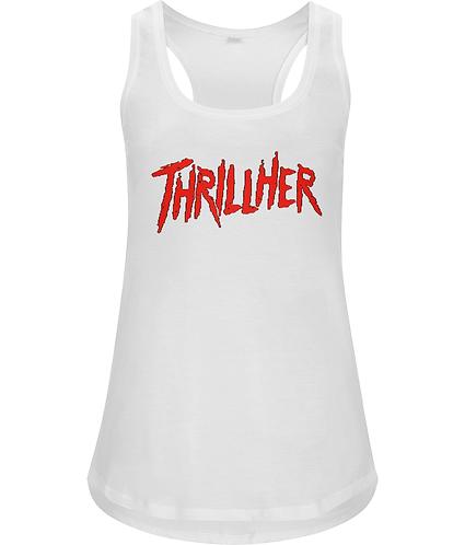 Thrillher! Funny, Lesbian, Ladies Racerback Vest