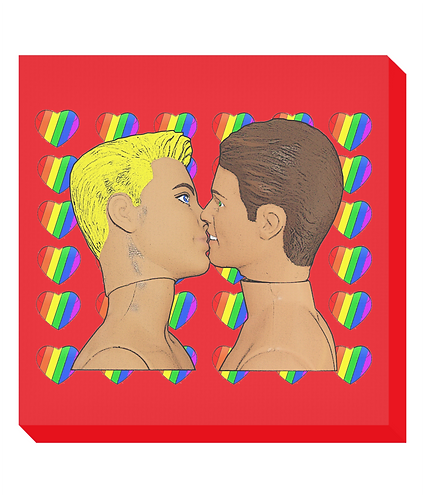 Rainbow Sweethearts Canvas