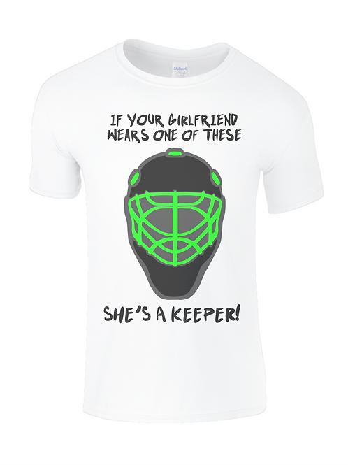 Girlfriends a Keeper Kids Field Hockey T-Shirt