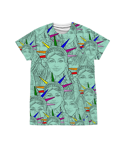 Madonna as the Statue of Liberty! LGBT, Cool, Pop Art Sublimation Unisex T-Shi