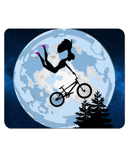 4 x Doll Riding a BMX, ET Style, Place Mats