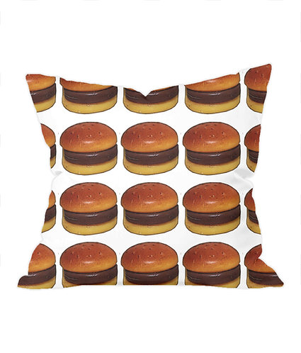 Hamburger Heaven Throw Cushion Cover