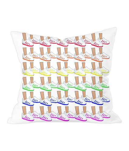 Sneakers Throw Cushion Cover